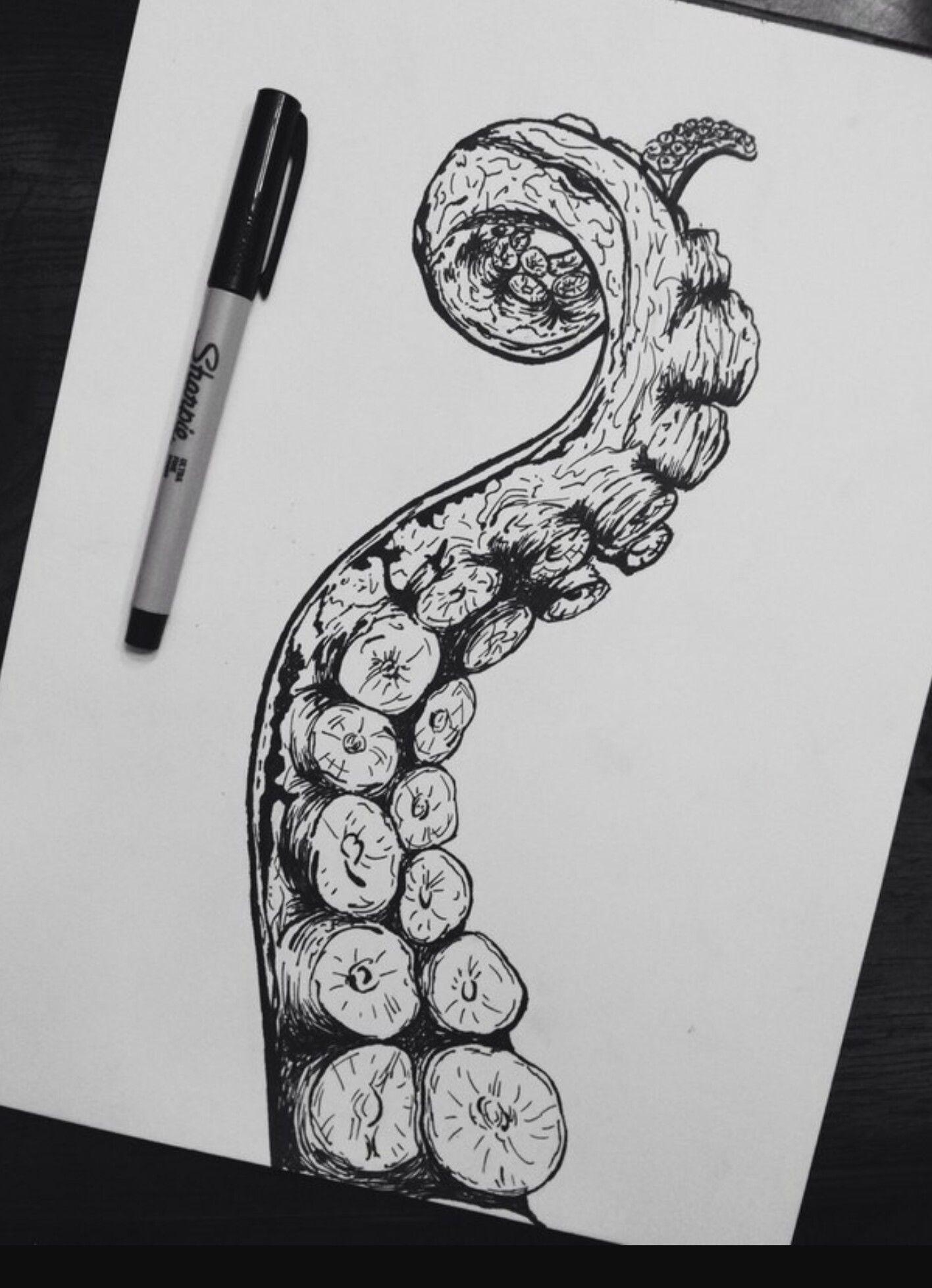 Realismo Pulpo Arte Del Tatuaje Dibujar Arte Pulpos Dibujo