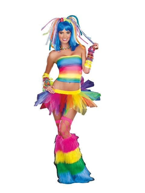 Candy Fairy Wig Retro Rave Fancy Dress Up Halloween Costume Accessory 2 COLORS