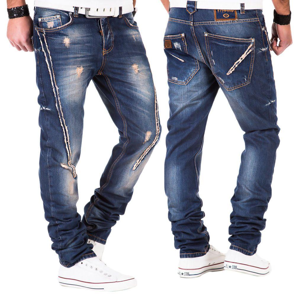 Japan Style Tazzio Herren Jeans Hose Denim Clubwear Kosmo