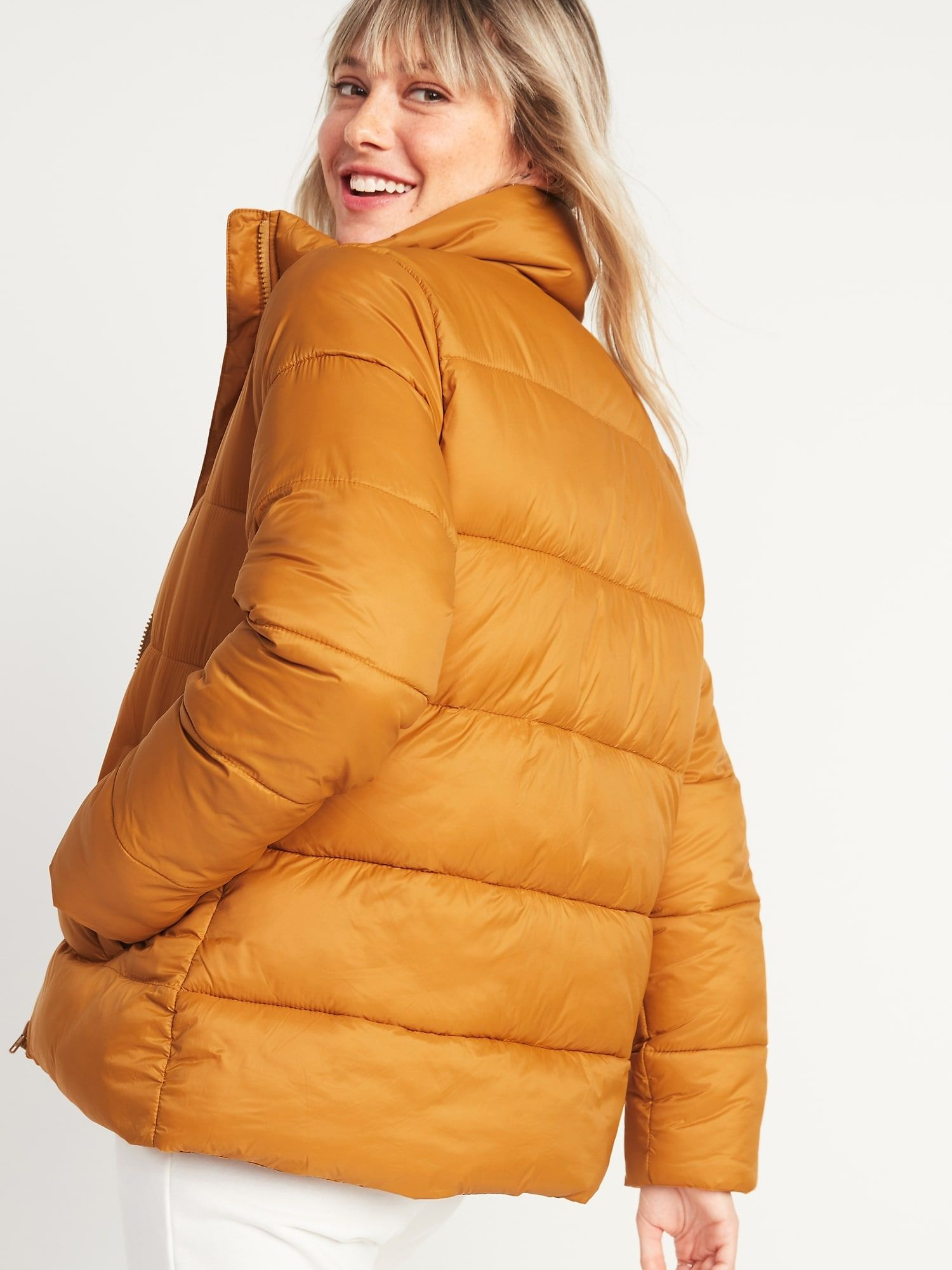 Old Navy Women S Frost Free Zip Front Puffer Jacket Miner S Gold Petite Size Xl In 2021 Puffer Jacket Women Old Navy Old Navy Women [ 2000 x 1500 Pixel ]