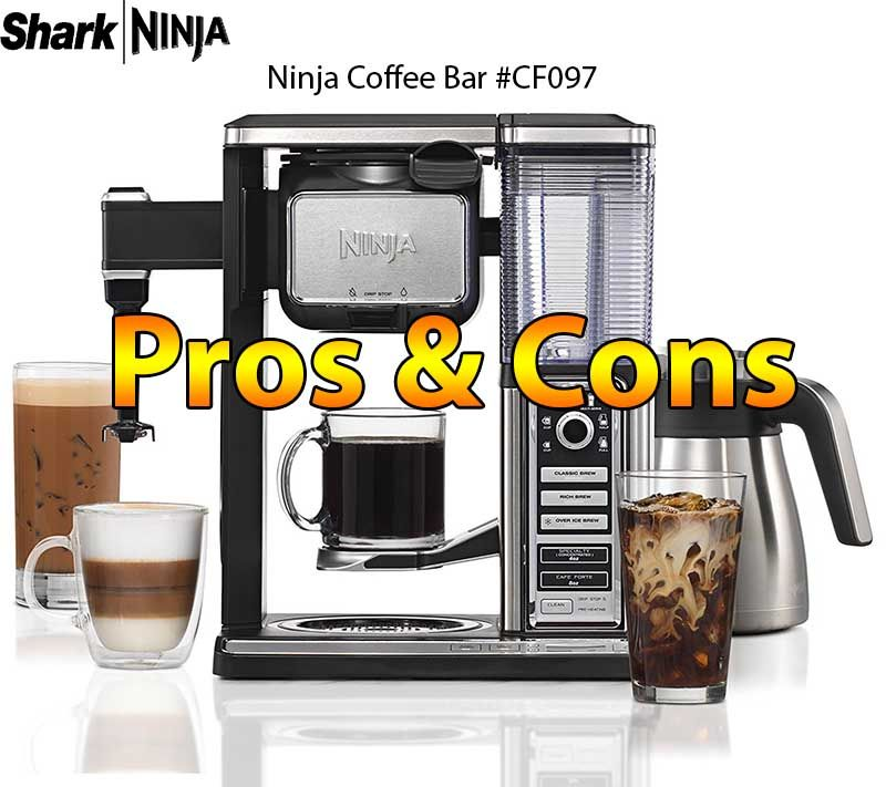 Ninja coffee bar brewer system with stainless steel carafe