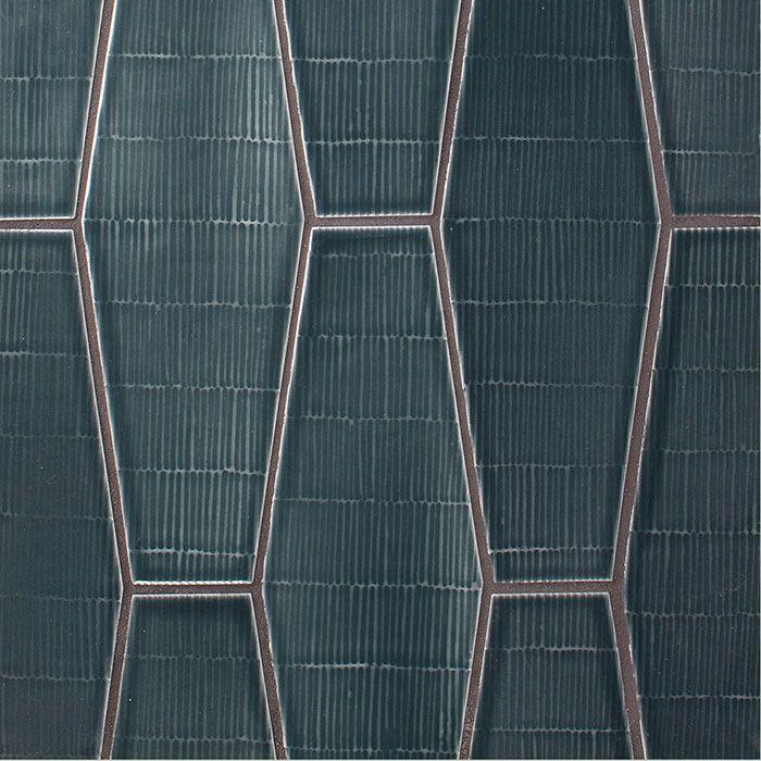 American Handmade Texture Ceramic Tile Wall Tile Backsplash Tile Field Tile Elongated Hexagon Tile Blue Artisan Tiles Tile Backsplash Painted Brick Backsplash