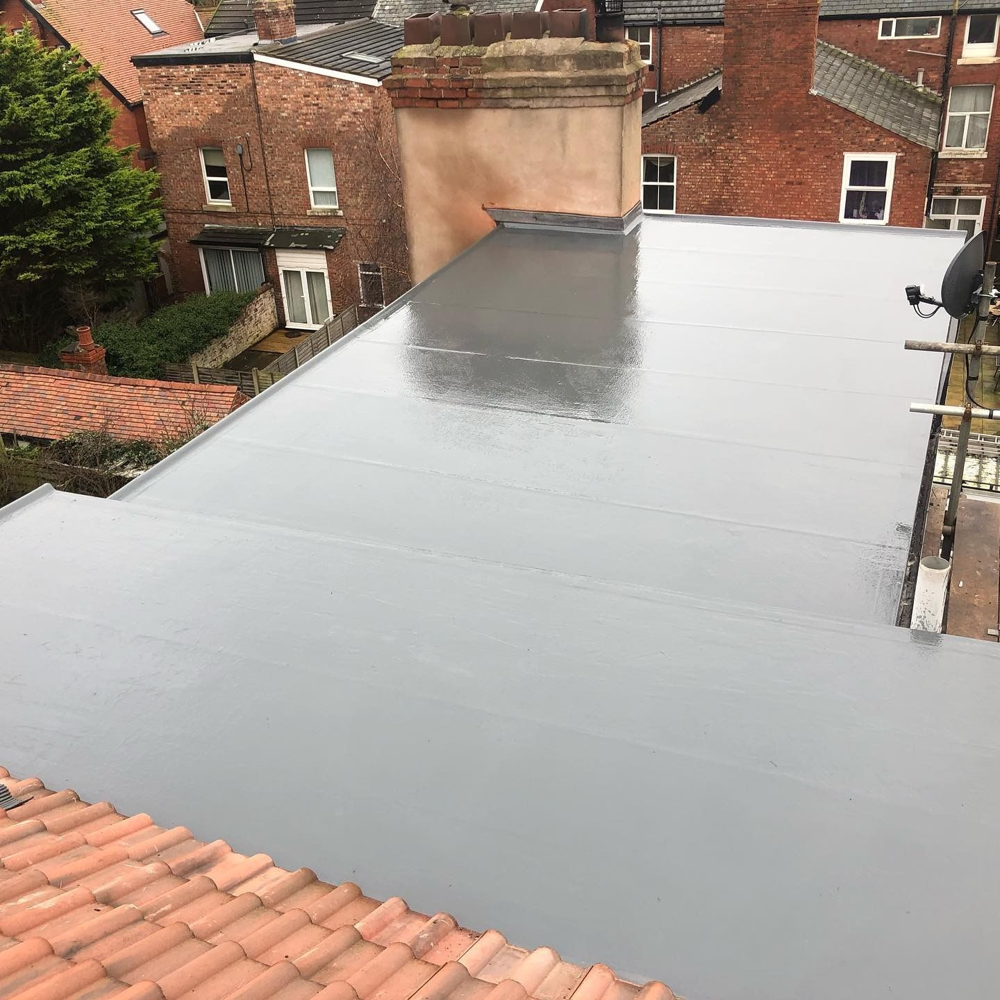 Fibreglass Grp Flat Roofs In 2020 Flat Roof Roofer Roofing