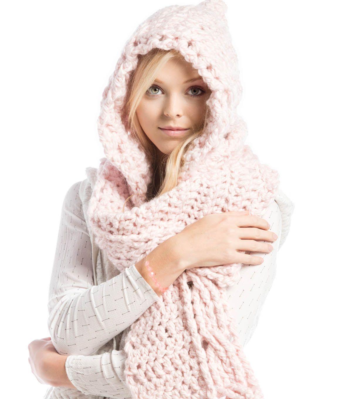 How To Crochet A Hooded Scarf | Crochet Hats | Pinterest