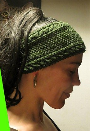 Free Knitting Pattern For Green Forest Headband And More Headband