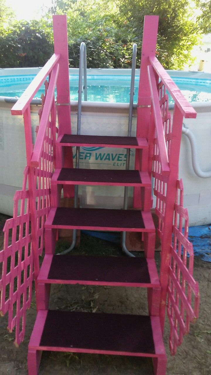 My Homemade Ladder I Built For My Above Ground Pool With Images