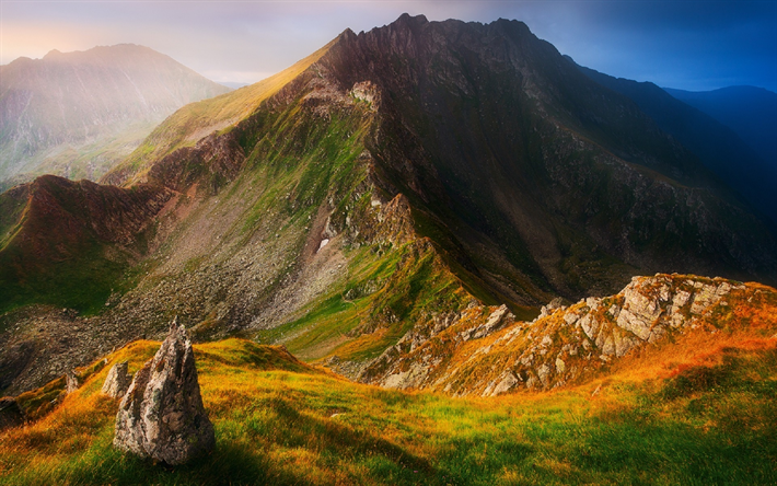 Hämta bilder Fagaras, berg, Södra Karpaterna, Rumänien, Europa