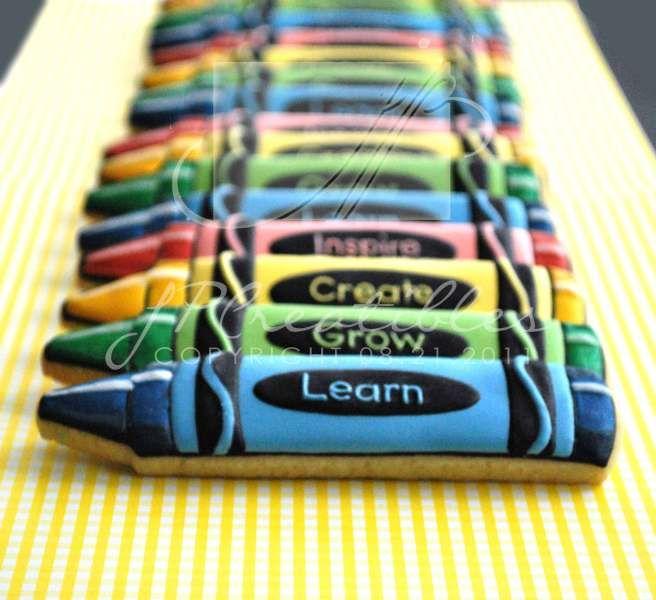 "Most amazing ""crayon"" cookies"