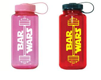 Bar Wars Waterbottle Decal, Custom Color, Kettlebell, Crossfit, Workout, WOD Decal