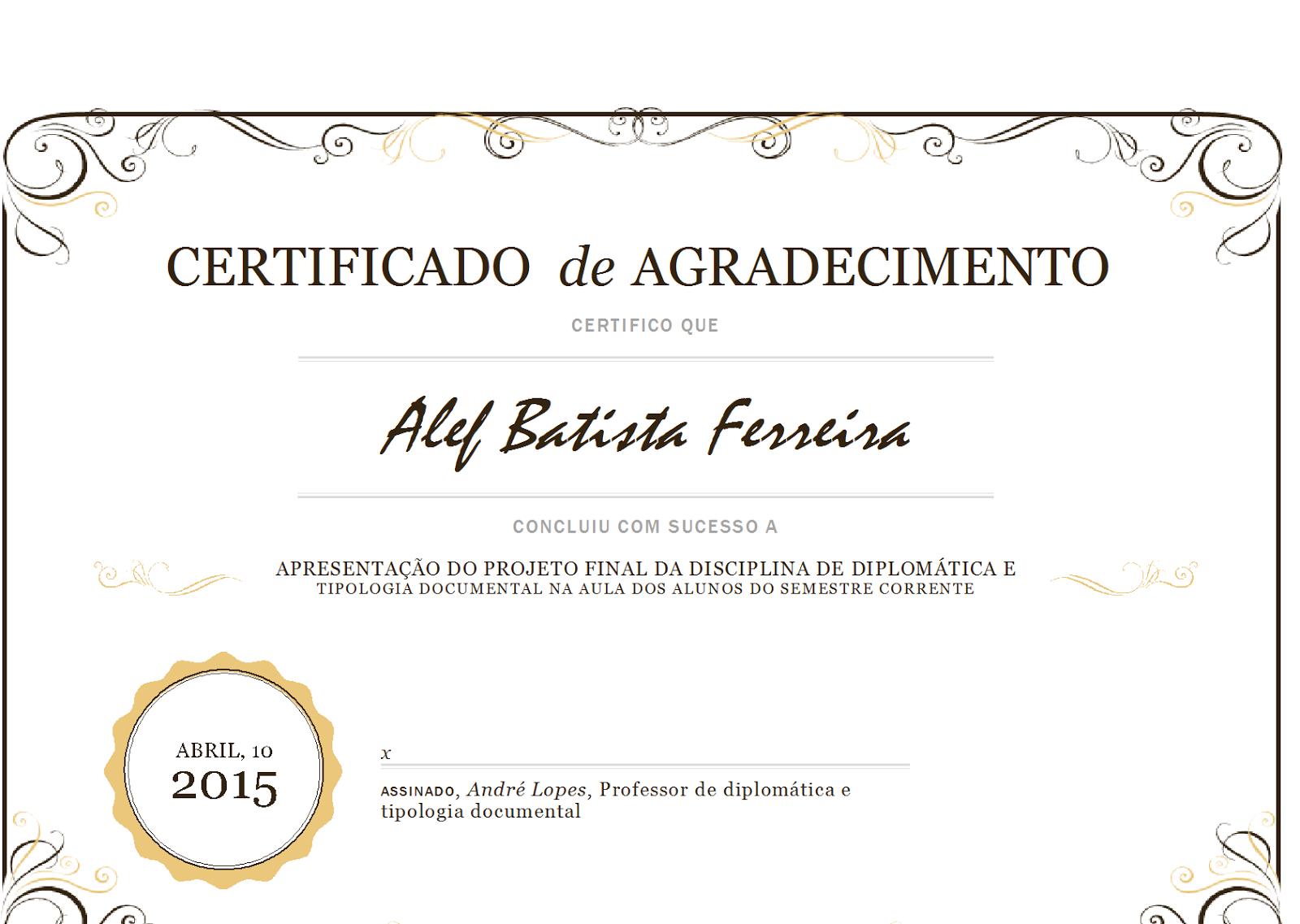 Resultado de imagem para modelo certificado | diploma nelson ...