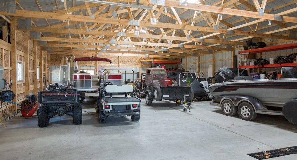 Morton Buildings Garage Interior In Anoka Minnesota Garage