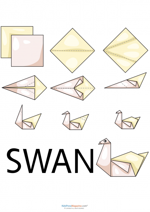 Easy origami swan origami swan stress reliever and for Origami swan easy step by step