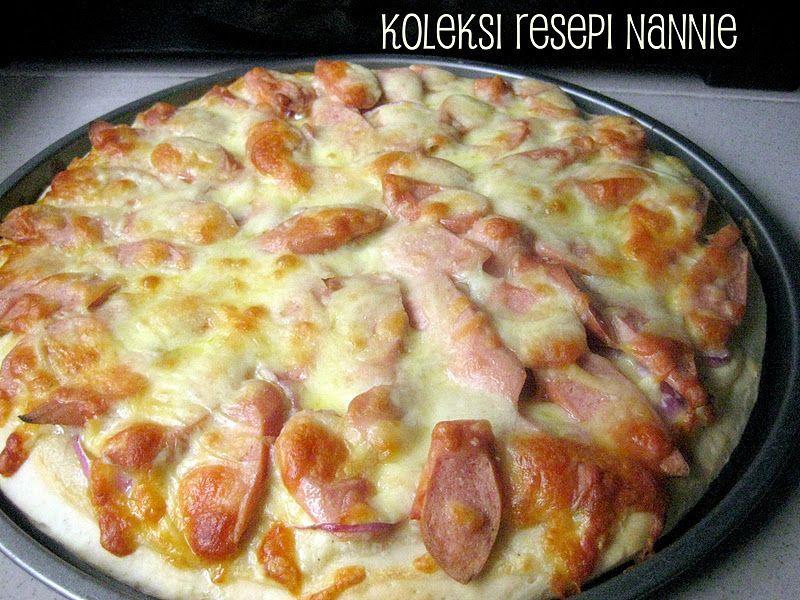 Resepi Nennie Khuzaifah Pizza Topping Sosej N Sos Krim Keju Keju