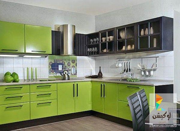 أروع الوان مطابخ من كتالوجات مطابخ 2017 2018 لوكشين ديزين نت Green Kitchen Designs Green Kitchen Kitchen Design