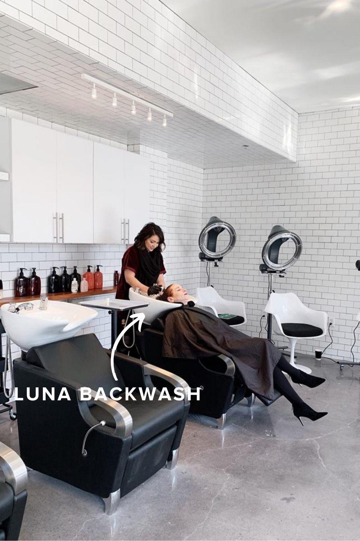 Luna Salon Shampoo Backwash Unit Bowl Salon Equipment Salon Equipment Furniture Hair Salon Design