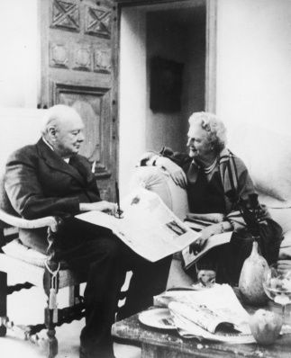1958 Clementine And Winston Churchill Celebrate Their