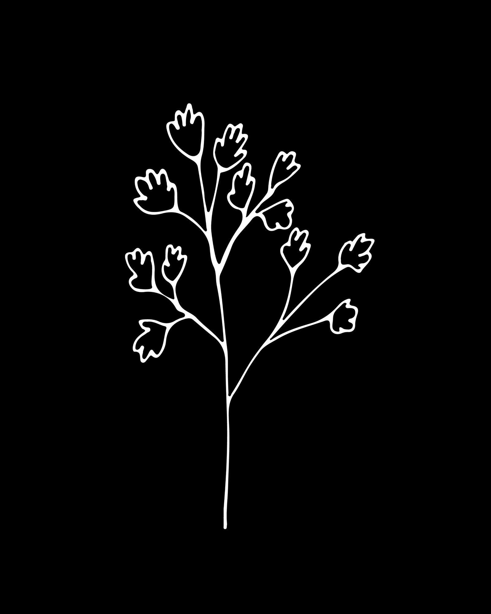 Flower 8 - black