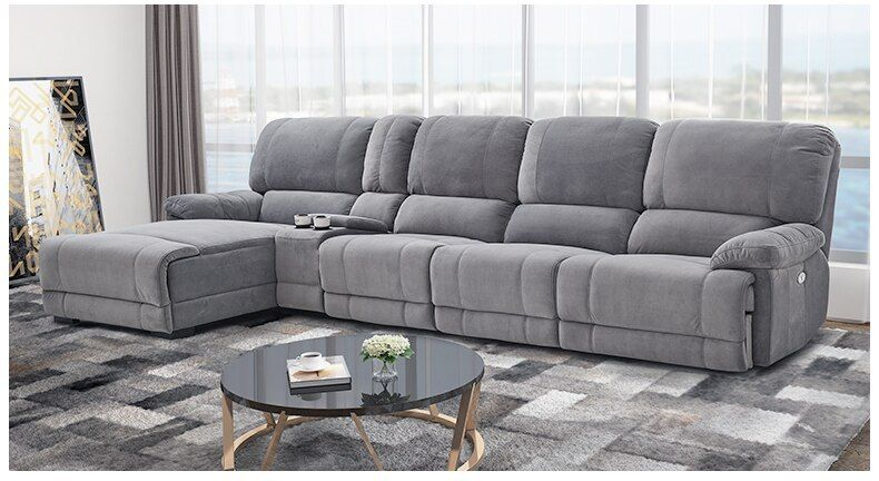 Fabric Sectional Sofa Electric Recliner Living Room Sofa Set Furniture Alon Couch Puff Asiento Muebl Fabric Sectional Sofas Sectional Sofa Living Room Sofa Set