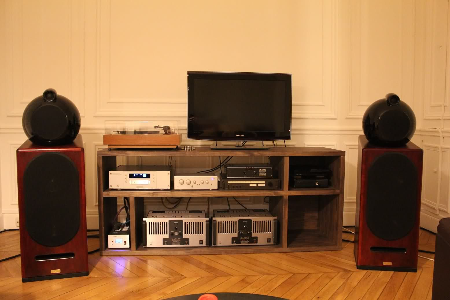 impressionnant meuble hifi bois Décoration fran§aise