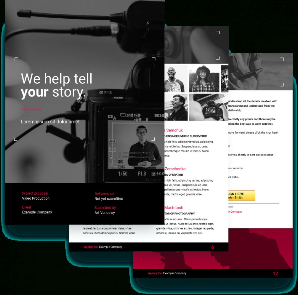 Sample Of Video Proposal Template Free Sample Proposify Video