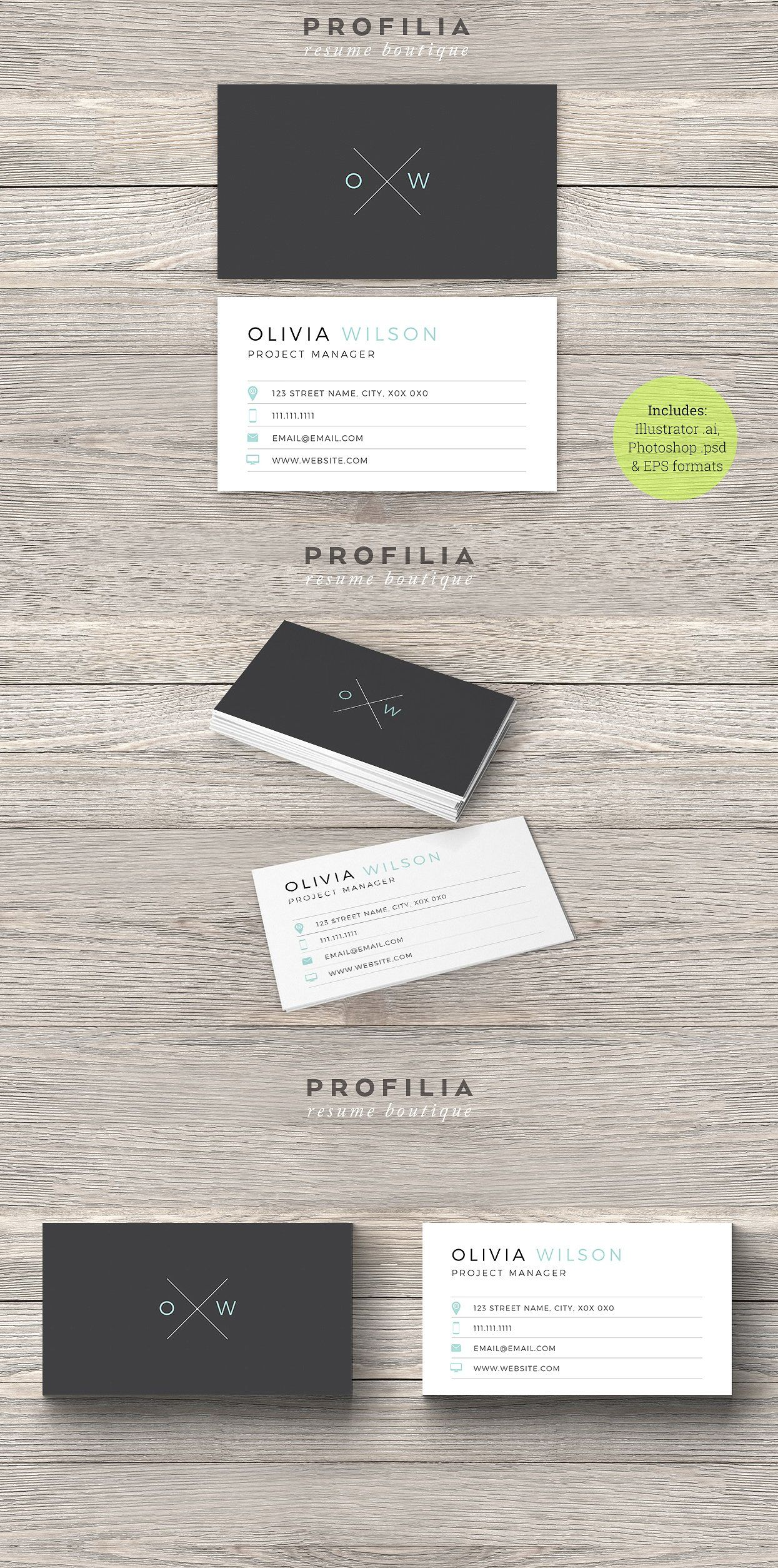 Modern Business Card Template AI, EPS | Business Card Template ...