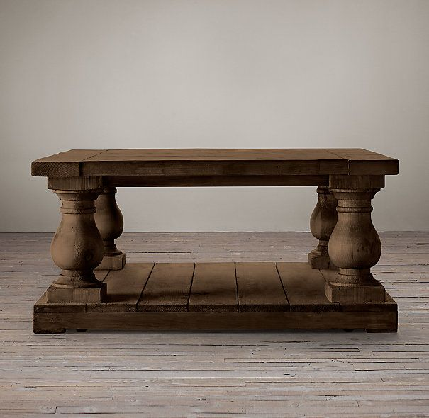 Barade Salvaged Wood Coffee Table Square Tables Restoration Hardware