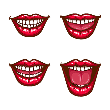 A Collection Of Pop Art Icons Of Red Female Lips Smiling Lips Clipart With Lip Png And Vector With Transparent Background For Free Download Art Icon Female Lips Pop Art