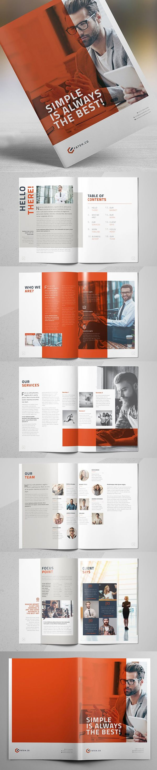 business brochure template 20 pages