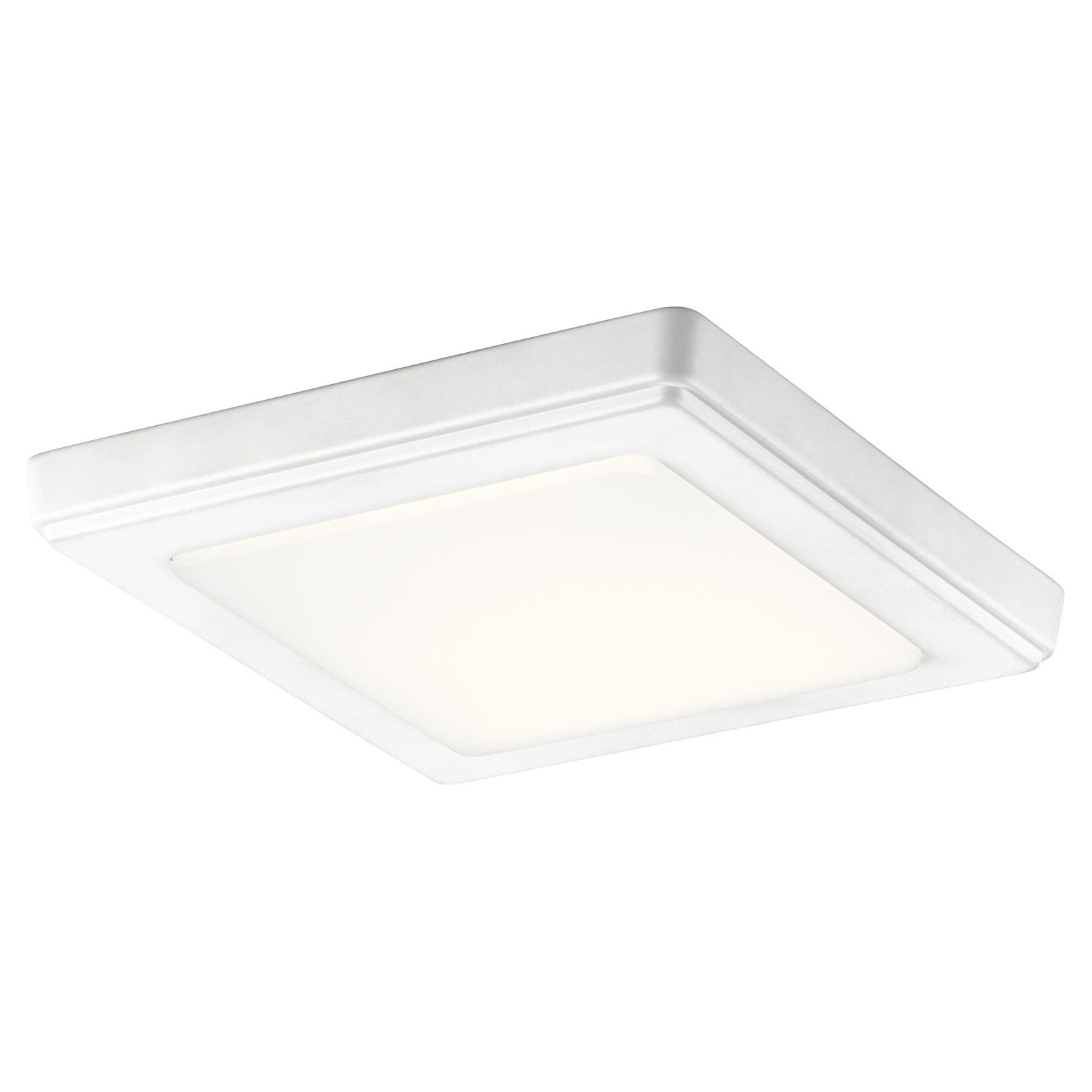Kichler Zeo 4424 Square Flush Mount Light Led Flush Mount Led Ceiling Lights Flush Mount Lighting