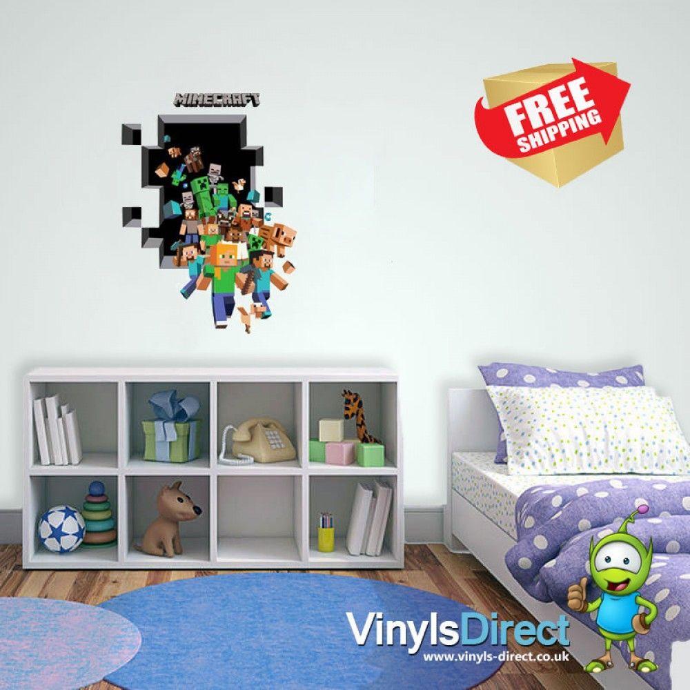 Minecraft Colour Wall Sticker Uk All Product Catalogue Pinterest