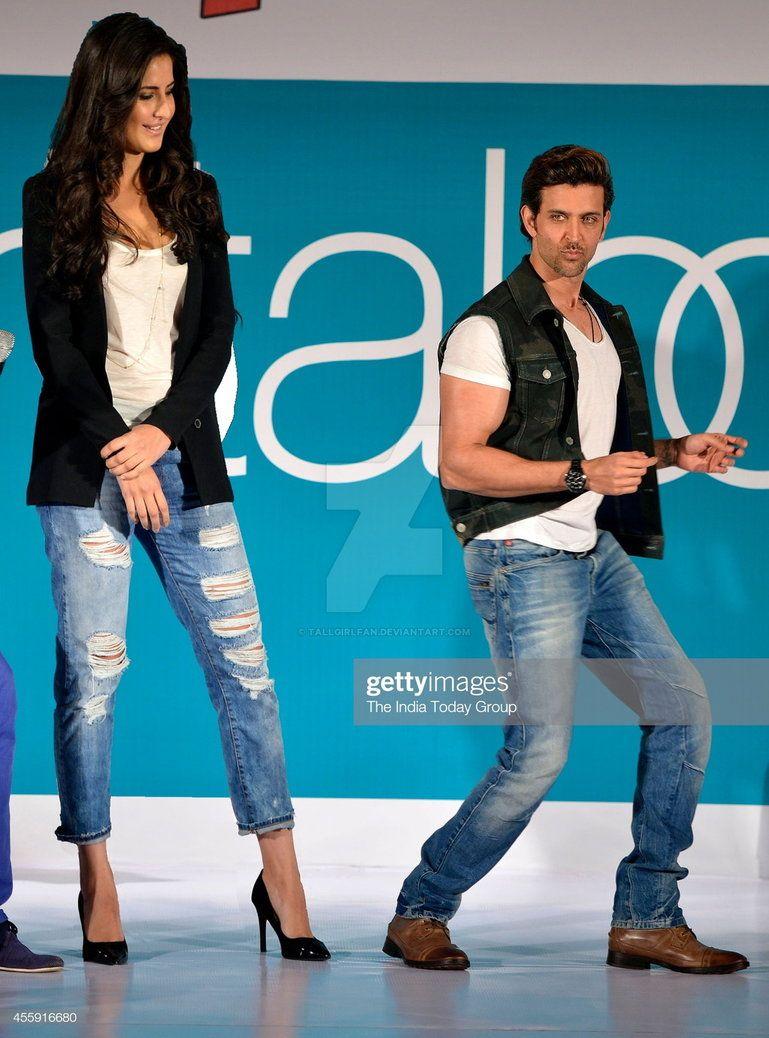 Tall Katrina Kaif With Hritik Roshan By Tallgirlfan Katrina Kaif Hindi Bollywood Movies Katrina