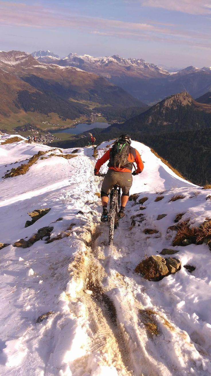 Riding Mountain To Lake Freeride Mountain Bike Riding Mountain Downhill Bike