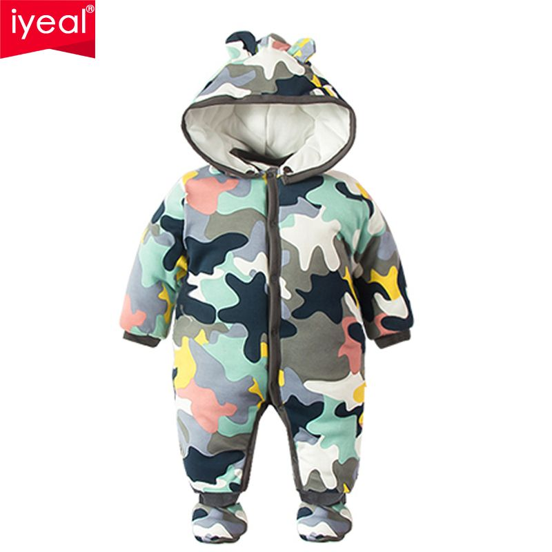 3b58189f5ab6 IYEAL 2017 NEW Baby Rompers Winter Thick Warm Baby boy Clothing Long ...