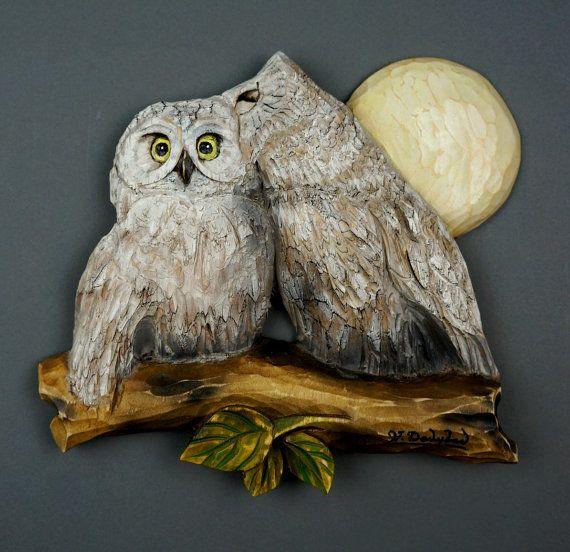 Owl Wohndesign: Wood Love Spring Birds ♥ By Anastasiya Khramtsova On Etsy