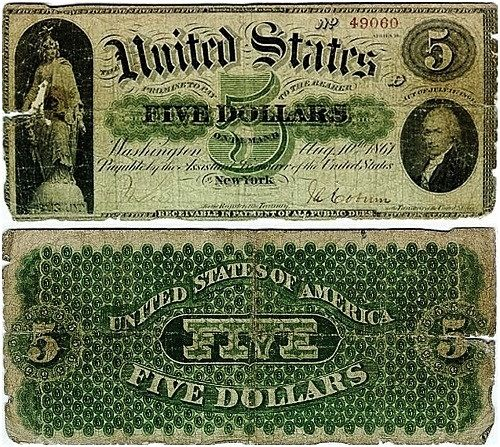 Reproduction 1861 $20 Dollars US Paper Money Currency Bill Copy Note