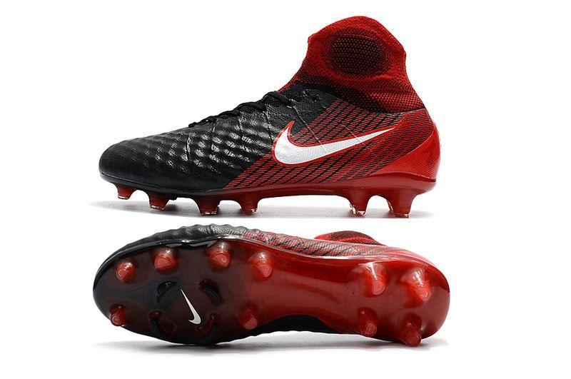 e200fb922fb86 Nike Magista Obra II FG Men Soccer Boots Black Crimson
