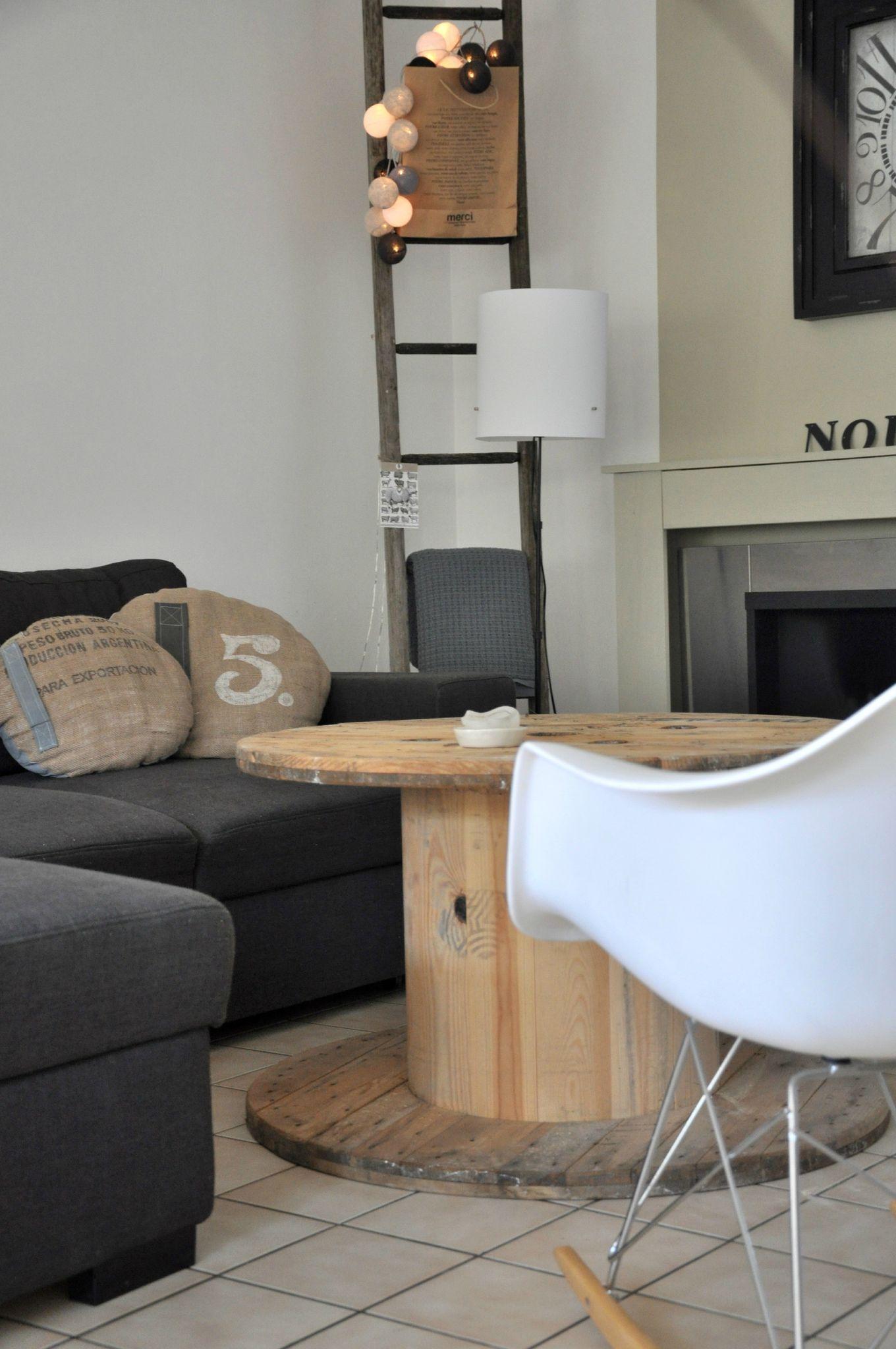 Décorer Un Touret En Bois touret table basse | déco maison, mobilier de salon