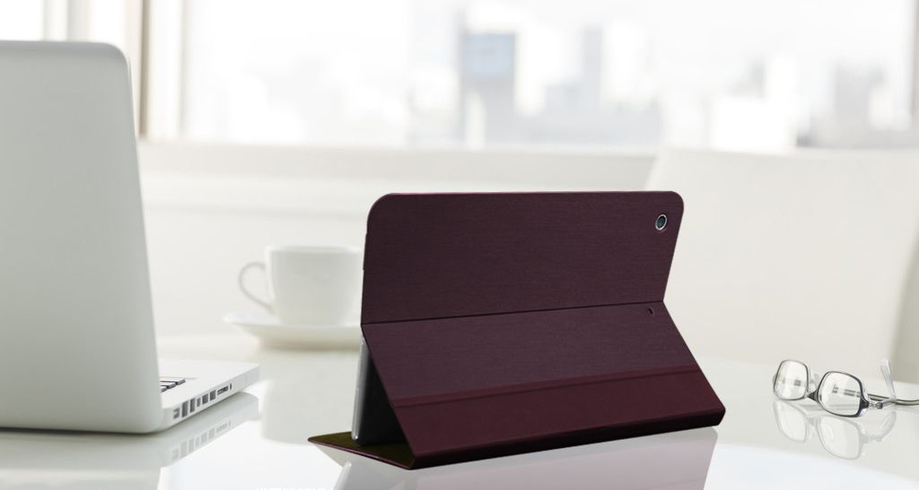 Slim Folio Stand Case for the iPad Air. Get it at http://www.macally.com/EN/?page_id=15241.