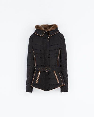 Zara Fall Capucha Corto Plumífero Winter Jackets Mujer rwqZr6AxC
