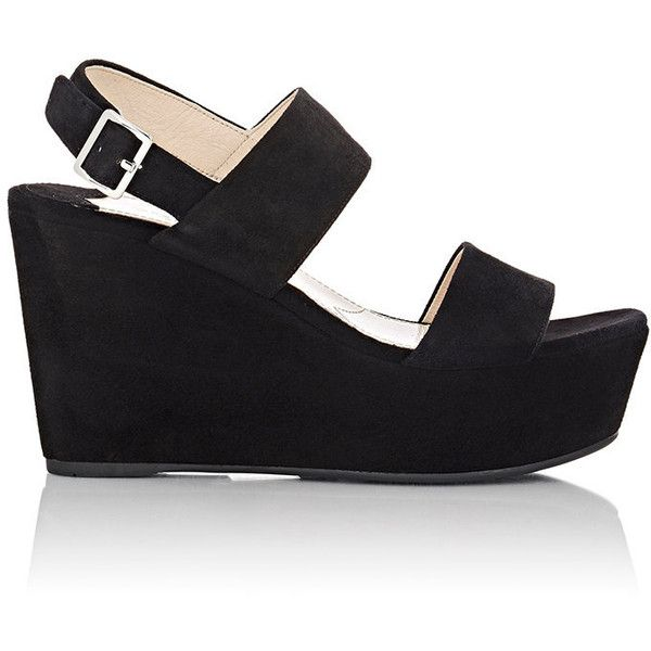 70a01eb7f11 Prada Women s Double-Band Platform Wedge Sandals ( 650) ❤ liked on Polyvore  featuring shoes