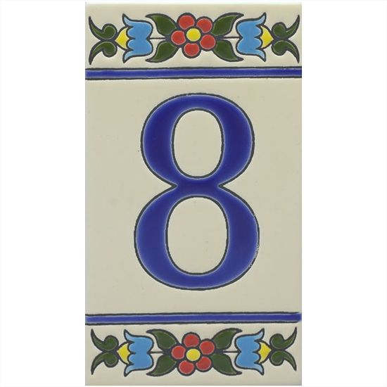 RusticaHouse Ceramic Tile House Numbers Makes The Property - Ceramic street numbers