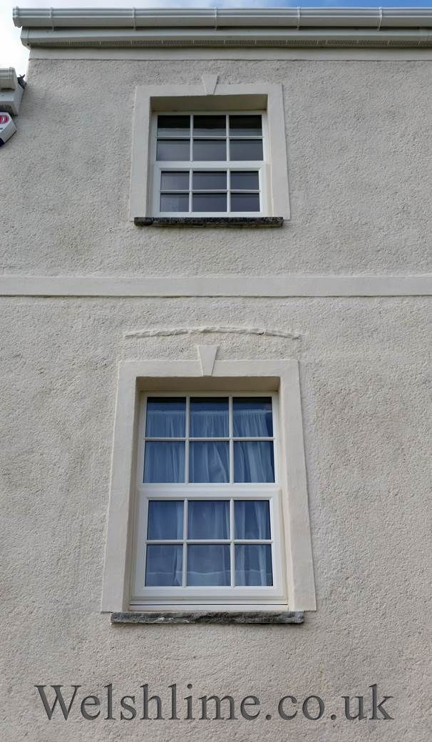Excellent Lime render with a light rough cast finish. Decorative render  XE22