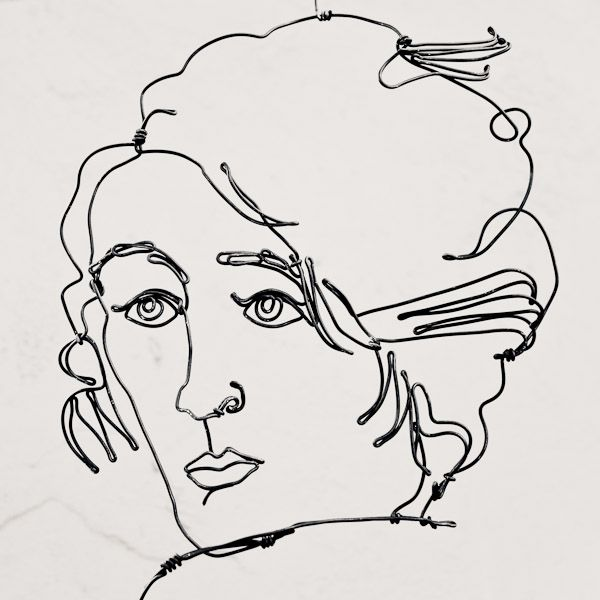 Contour Line Drawing With Wire : Wire sculpture alexander calder all about the face