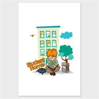 Öğrenci Evi Kendin Tasarla - Kanvas Tablo 60x90 cm Dikey