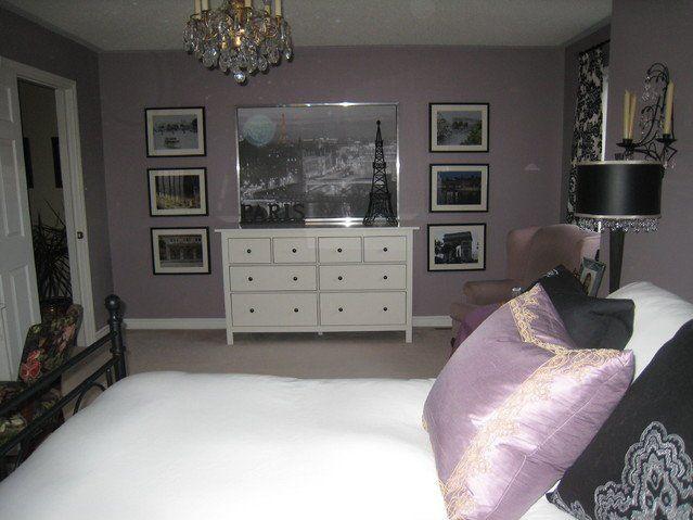 Paris Themed Bedroom Teen Girls   Eclectic Bedroom Decorating Purple Paris  Theme Bedrooms Bedroom Black .