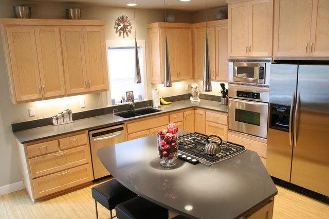 Modern Kitchen With Cooking Island Kitchen Design Maple Kitchen Cabinets Cheap Kitchen Cabinets