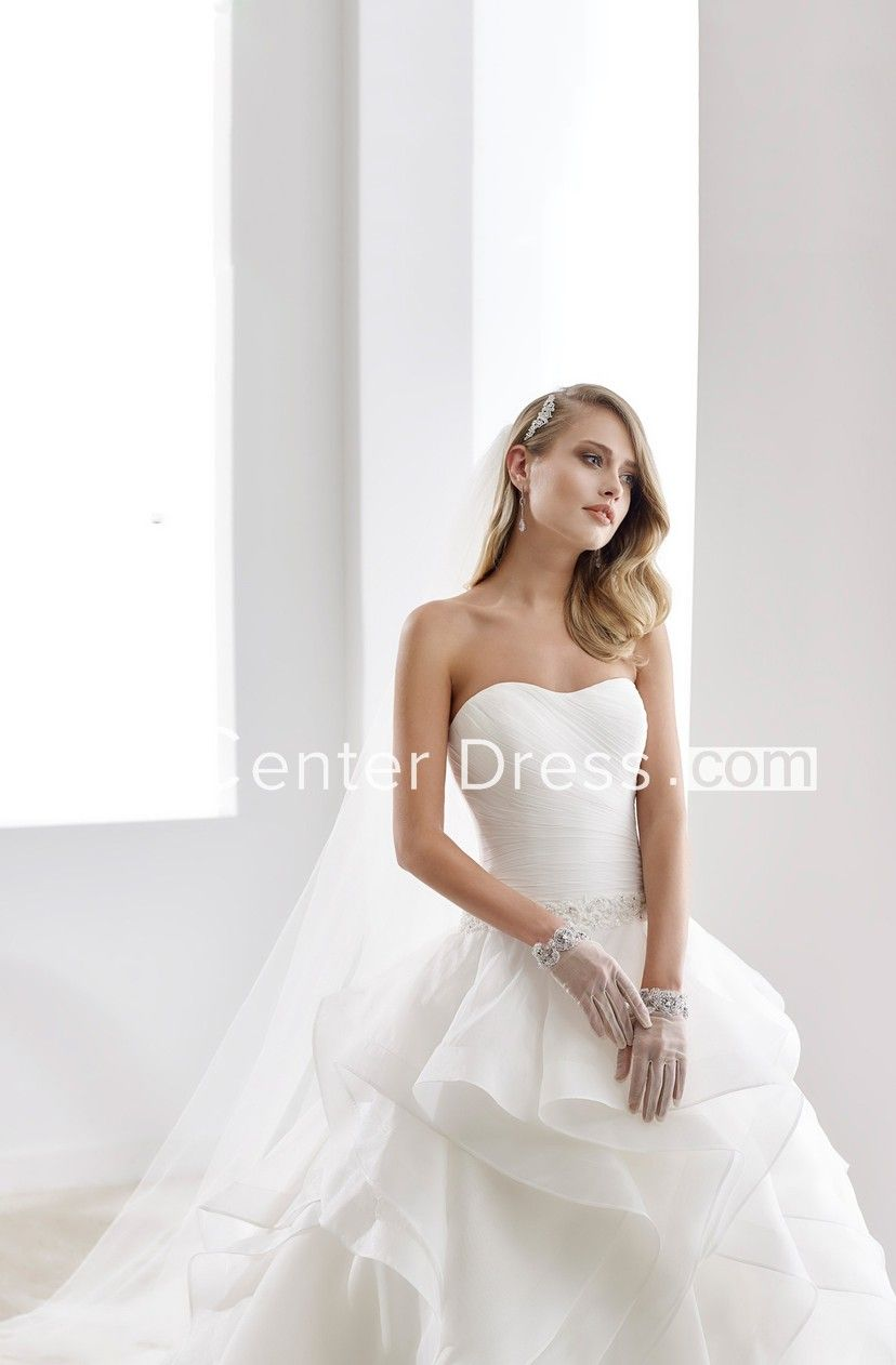 d4b10e778eec Illusion-Neck Sheath Mermaid Wedding Dress With Beaded Design And Brush  Train - UCenter Dress