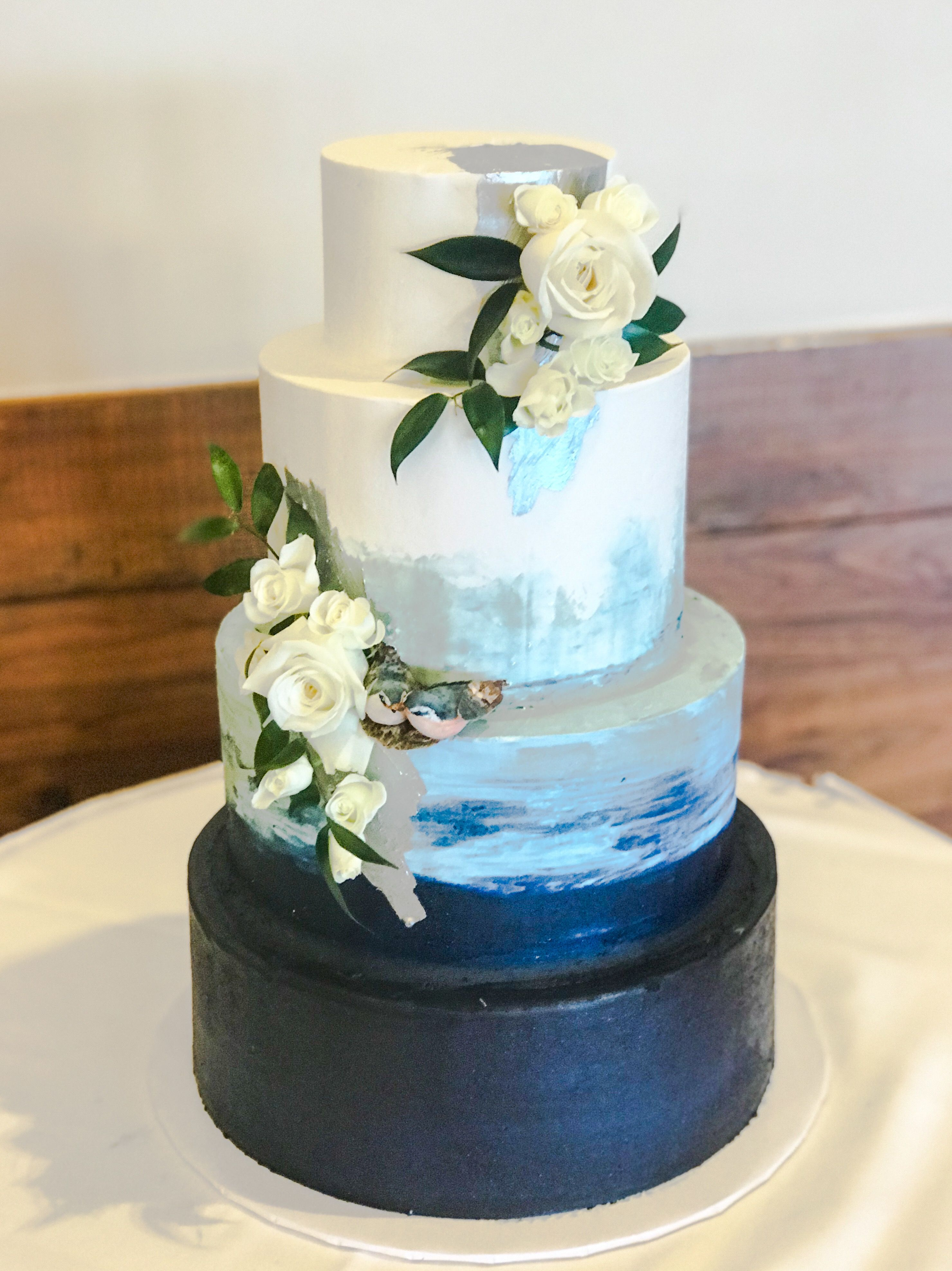 Watercolor Buttercream Wedding Cake By Paris Custom Cakes With