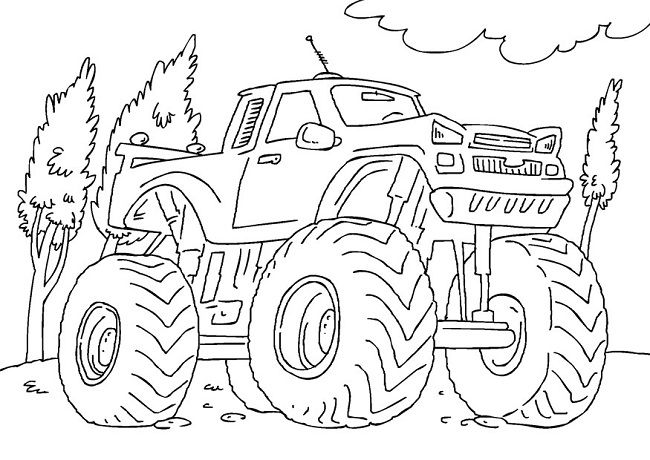monster energy drink monster trucks coloring pages
