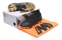 bd28f0c4a13 Comfortable Nike Mercurial Superfly VI Elite FG Flyknit 360 Black Metal  Gold Men s Soccer Shoes
